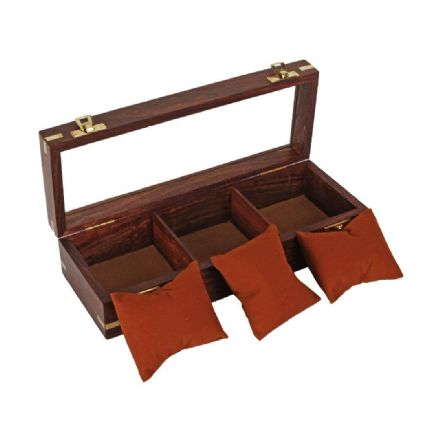 Wooden Watch Box Holds 3 Watches Jewellery